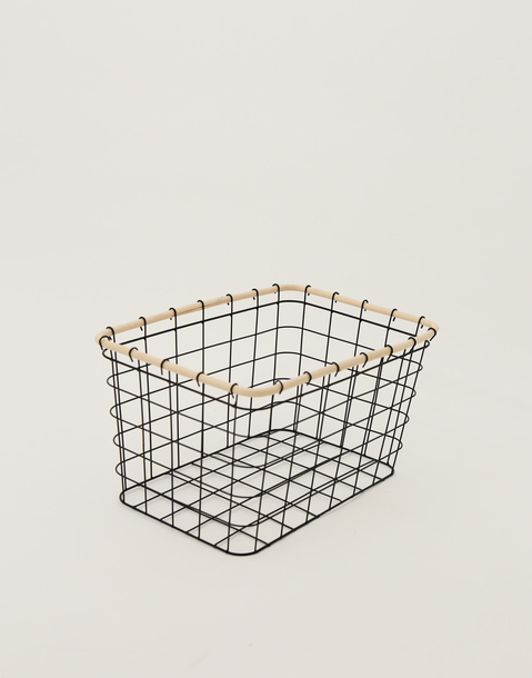 metal grid basket l