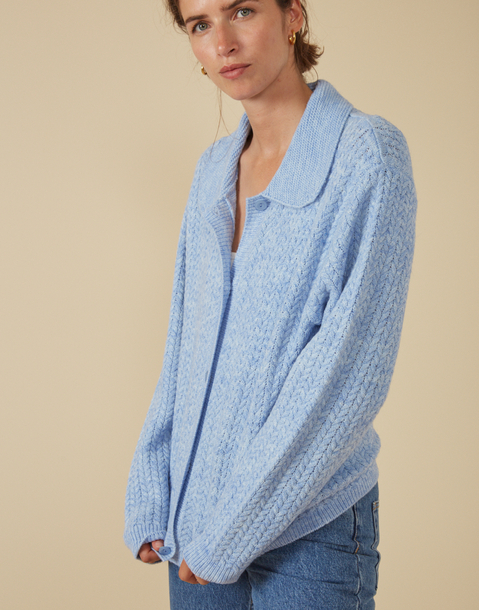 recycled knit cardigan