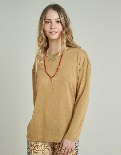 maglione in maglia tagliata