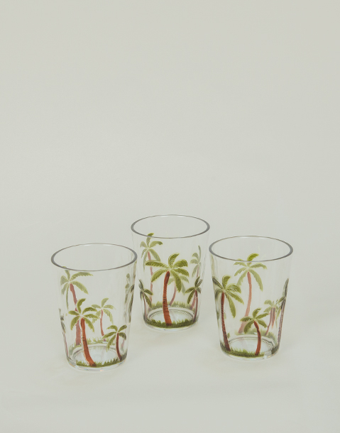 small palmtree glass