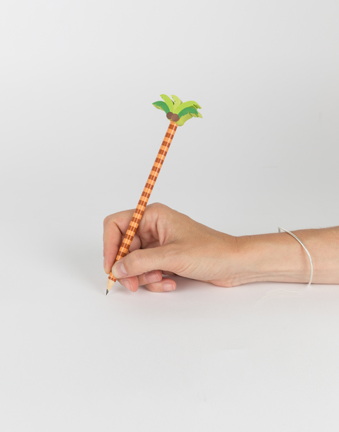 palm tree pencil