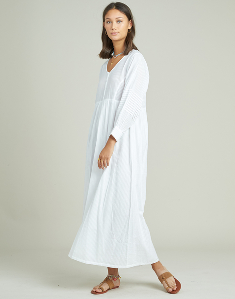 long dobby tunic dress