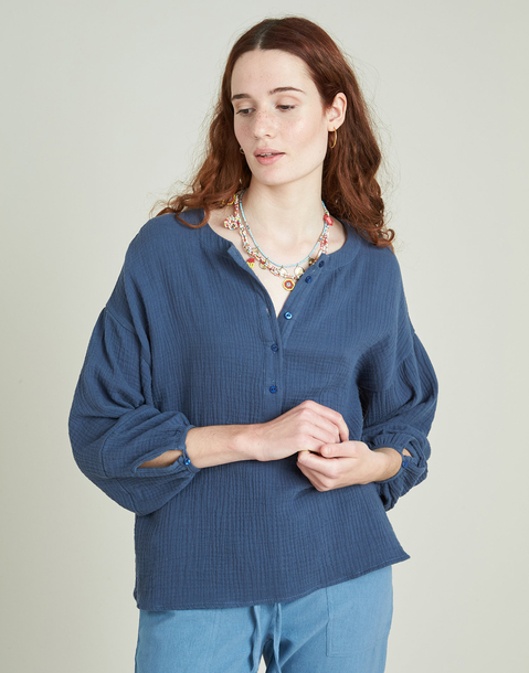 oversize long sleeve cotton shirt