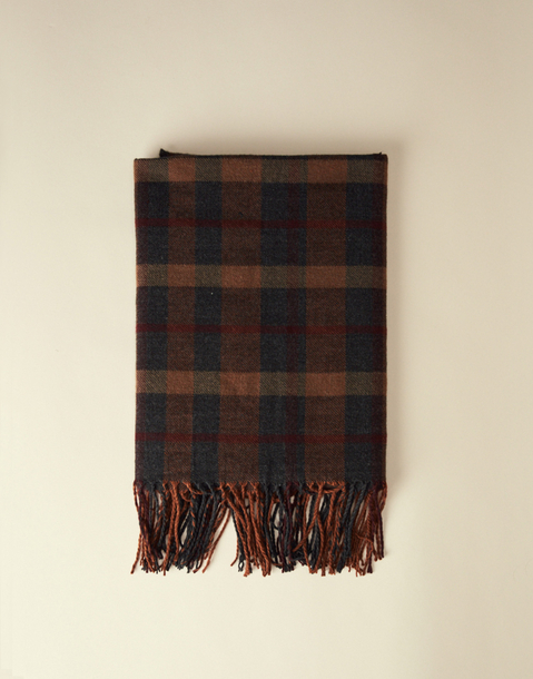dark plaid scarf
