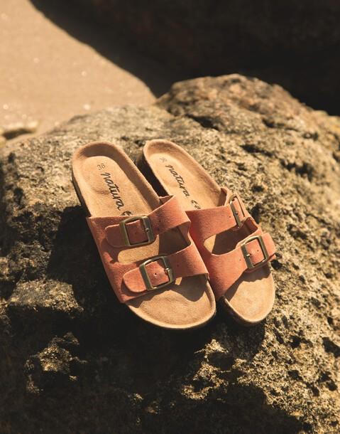 sandales double boucle ergonomiques cuir