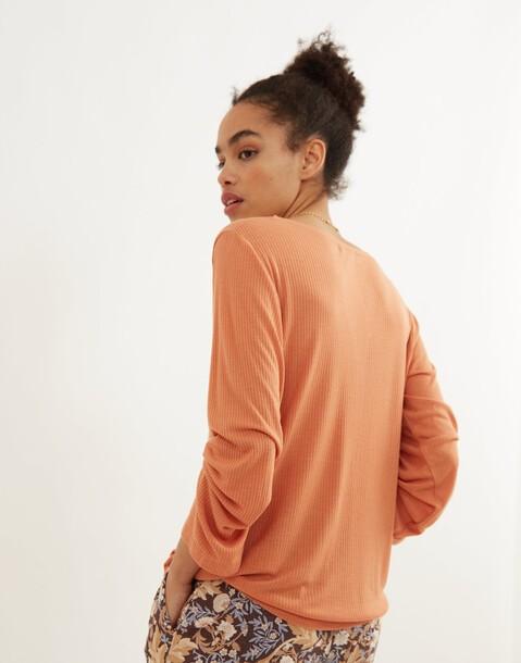 maglietta maniche lunghe costine