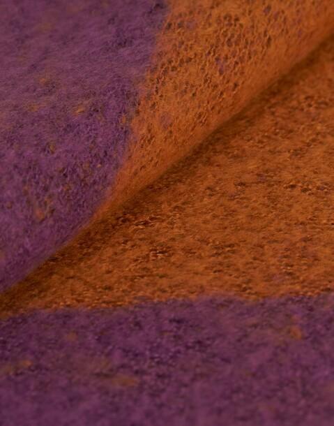extragrosser schlauchschal in kontrastfarben