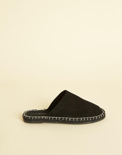 leather slipper sandal