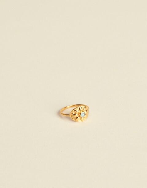 GOLDEN FLOWER MEDAL RING