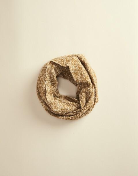 mottled neck scarf