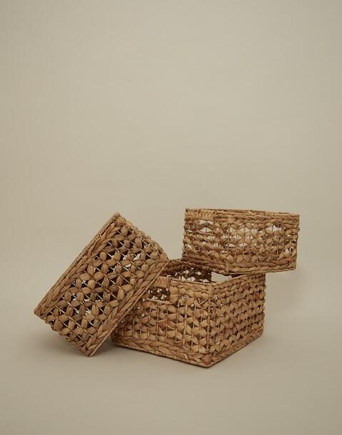medium natural cane basket