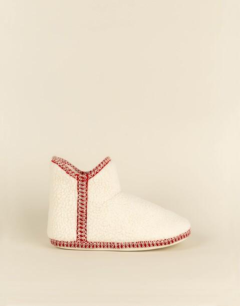 fleece slipper boot