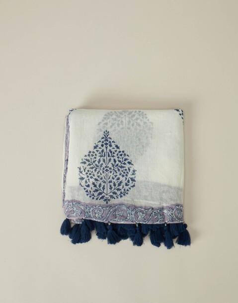 leaf stamp summer scarf