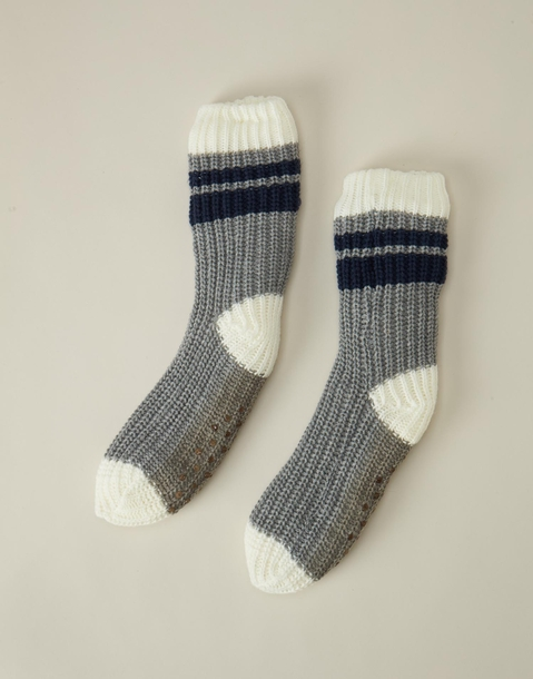 men's knit slipper socks
