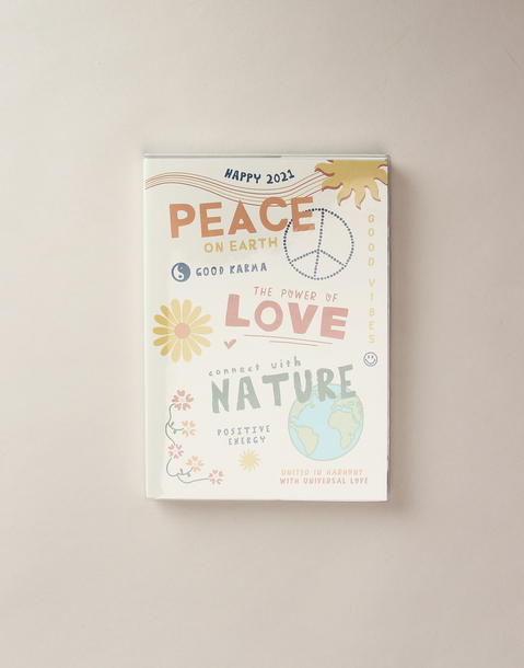 annual planner peace and love