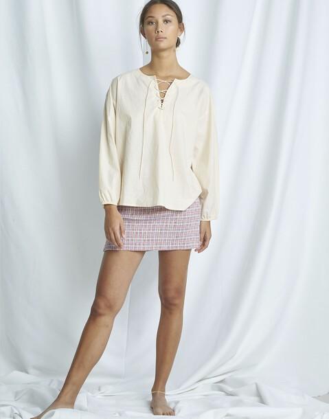 organic zig-zag blouse