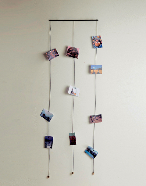 vertical photo hanging
