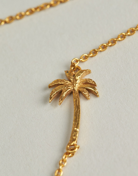 palm tree necklace bracelet