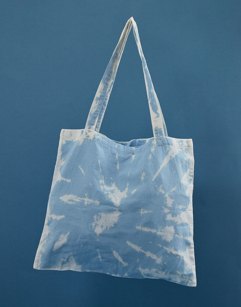 tye dye reusable tote bag