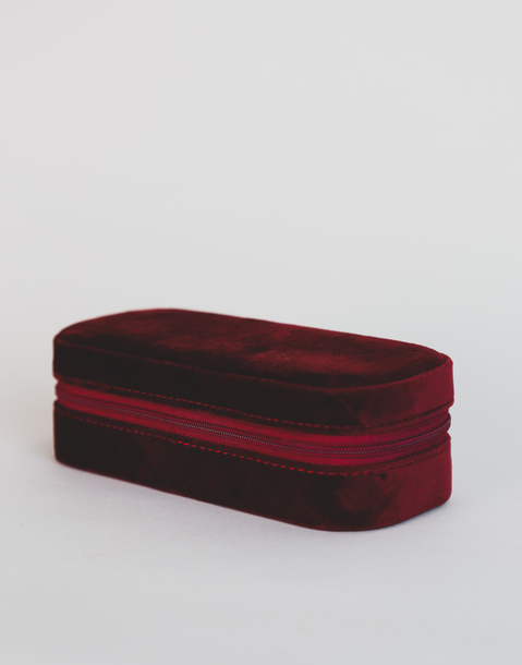 small velvet jewelry box