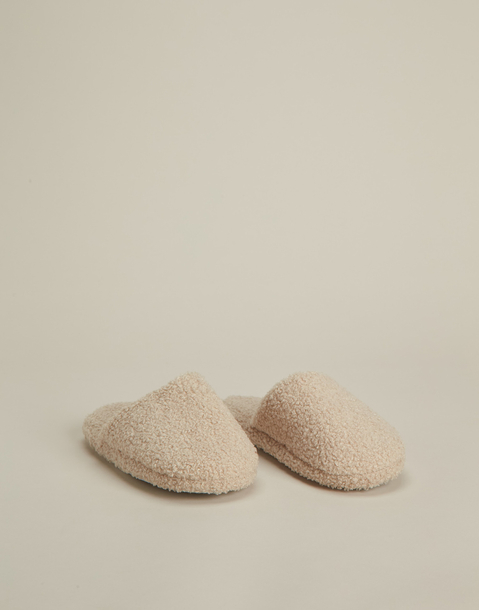 open slipper terry fabric