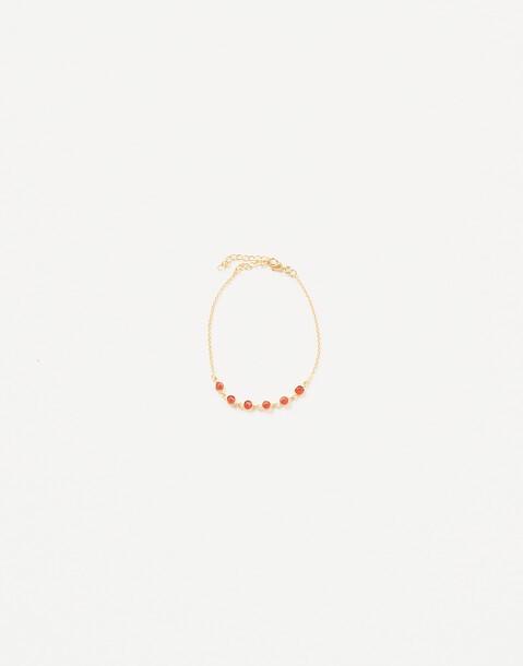 gold plated stone bracelet