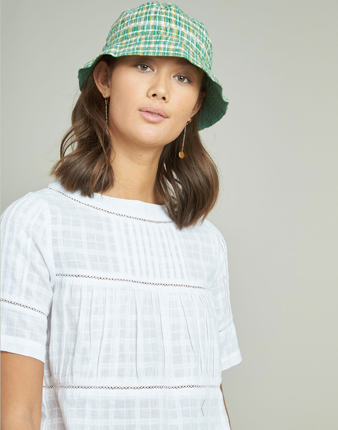 crop pleated blouse