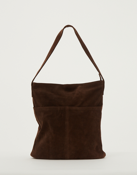 zipper leather tote bag