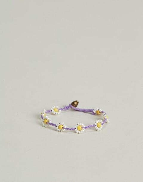 bracelet fil marguerites bicolores