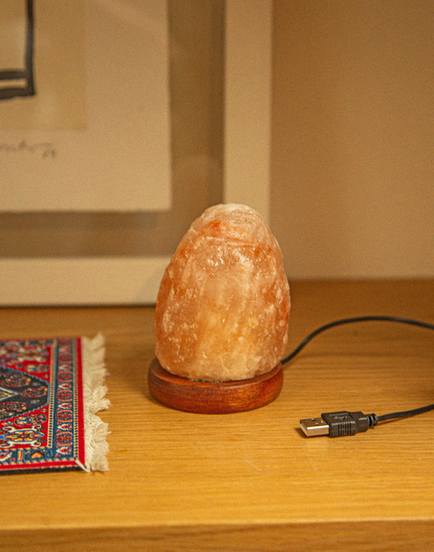 mini rock salt lamp