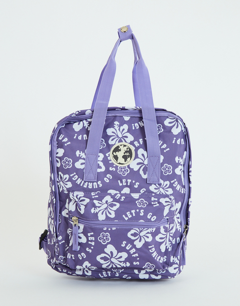 mochila estampada hawai