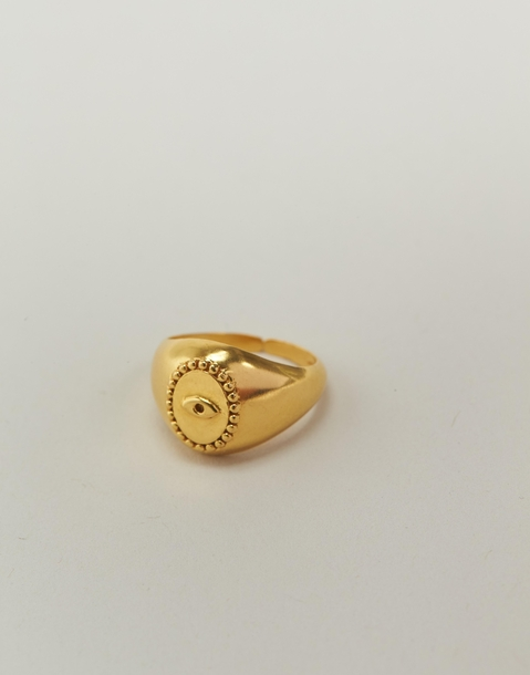 anillo ojo baño de oro