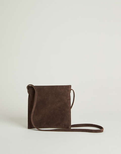 small basic suede bag