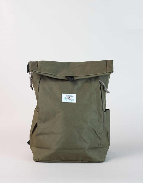 rolled up backpack