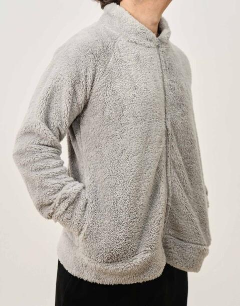 giacca uomo collo alto fluffy