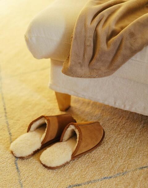 pantofole lana pelle uomo