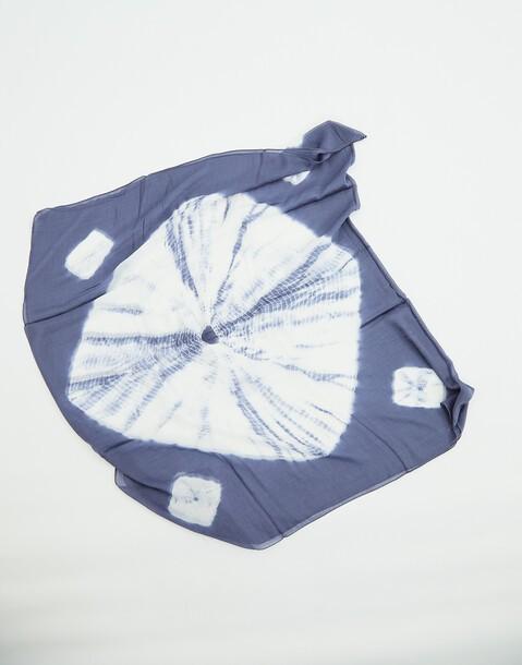 foulard tie-dye soie