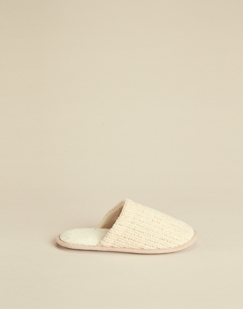 chenille woman slippers
