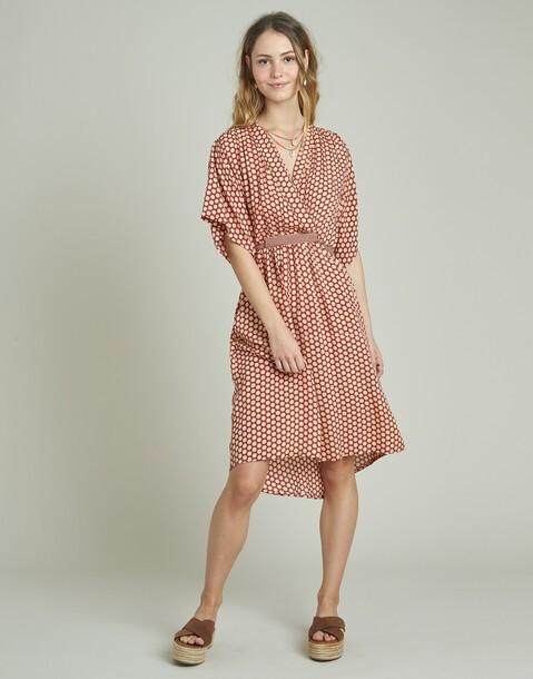vestido midi combinacion prints