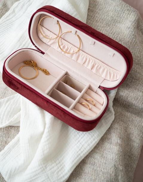 small velvet jewelry box