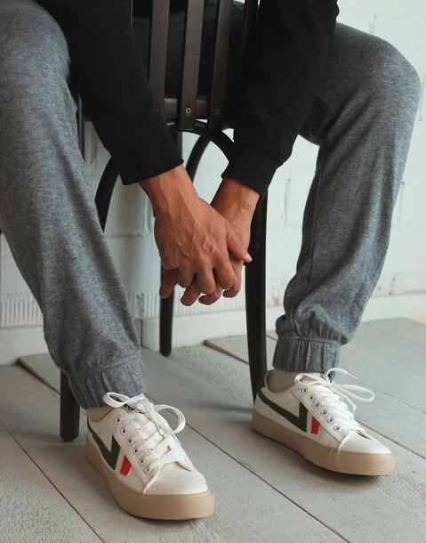 sneaker bianca bande uomo