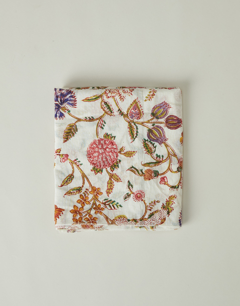 indian flowers printed foulard