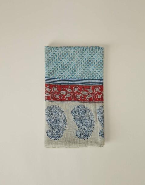 contrast trim summer scarf