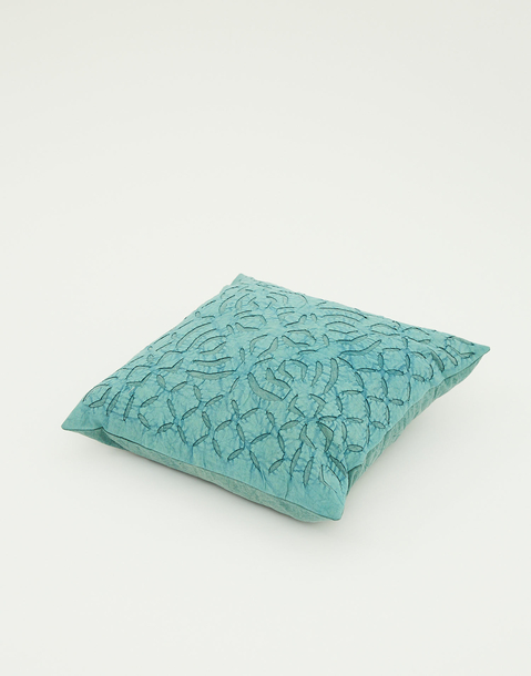 cushion cover with leaf detail 40x40