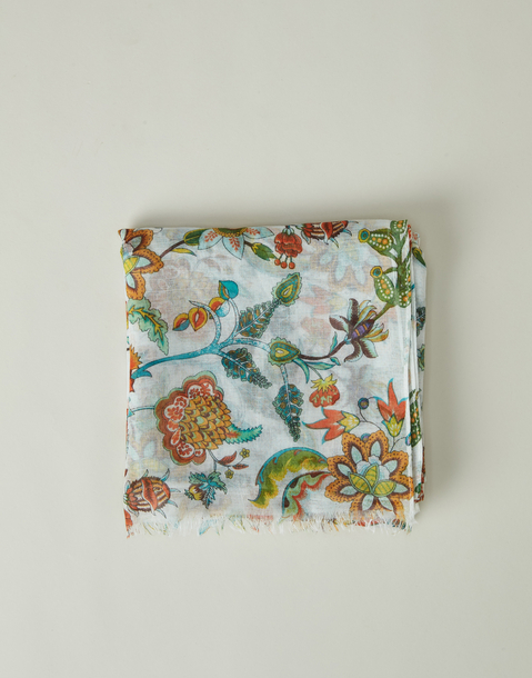 fular print flores exóticas