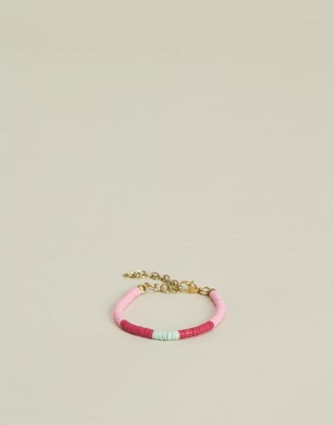 tricolor discs bead bracelet