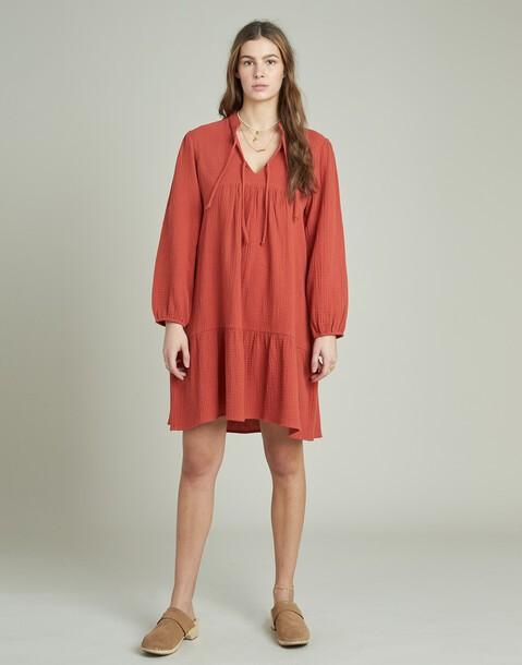 vestido corto algodón