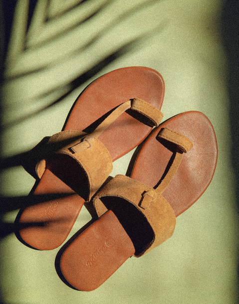 india suede flat sandal