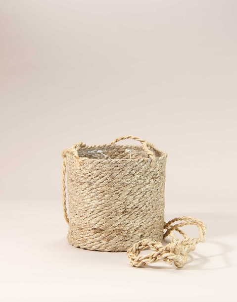 hanging jute planter basket