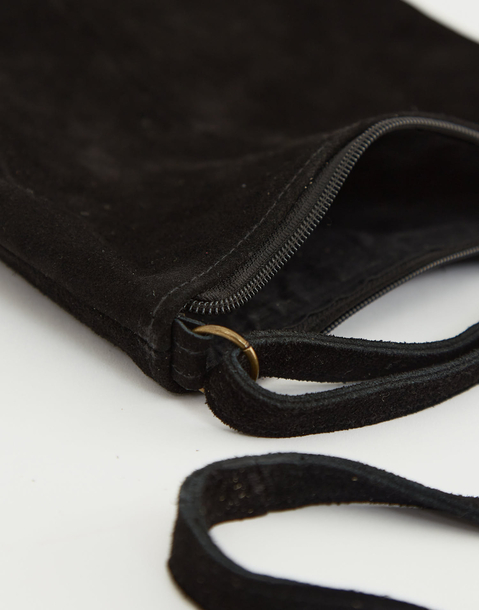 zipper leather tote bag